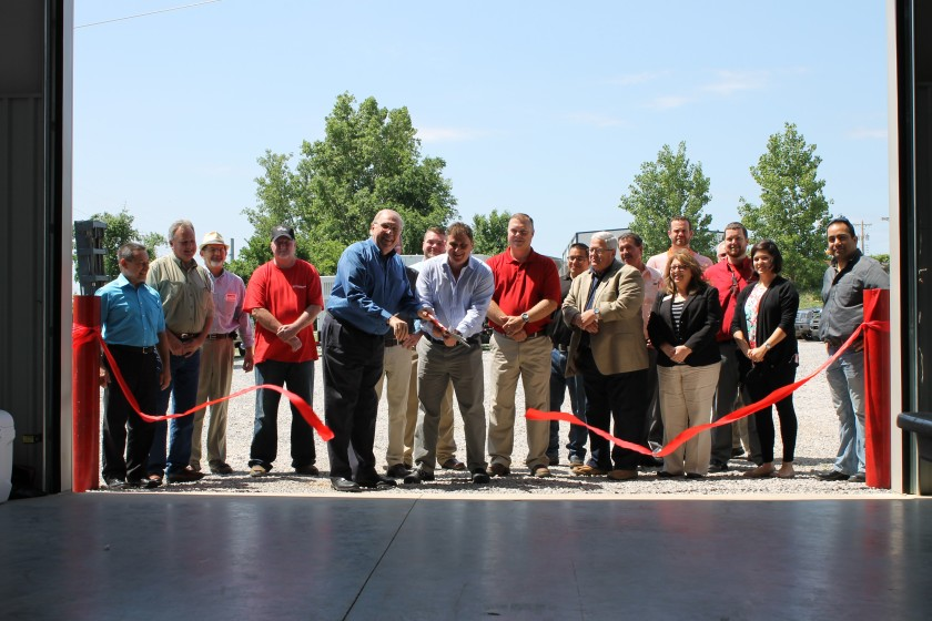 Ribbon cutting Tulsa